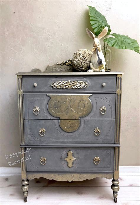 Diy Grey And Navy Dresser