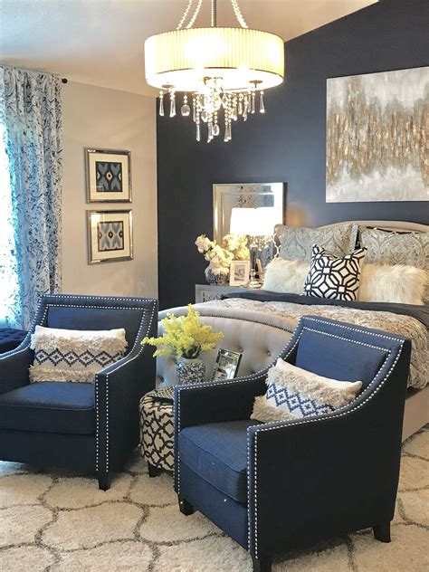 Diy Grey Dresser With Navy Accents