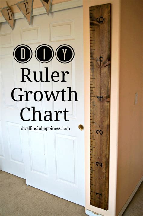 Diy Growth Chart Ruler Ribbon