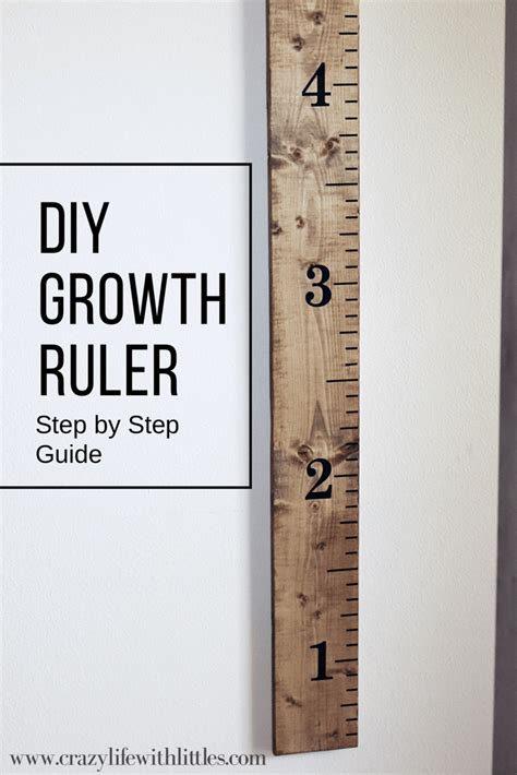 Diy Growth Chart Ruler Template