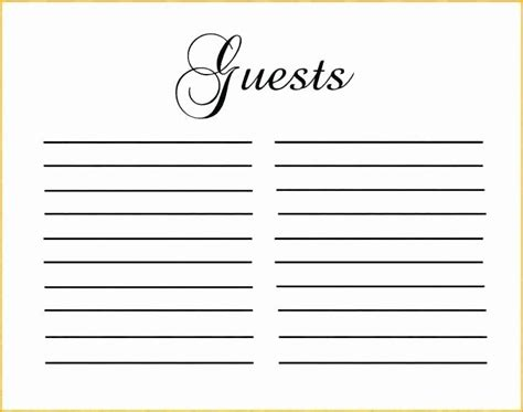 Diy Guest Book Sign In Pages