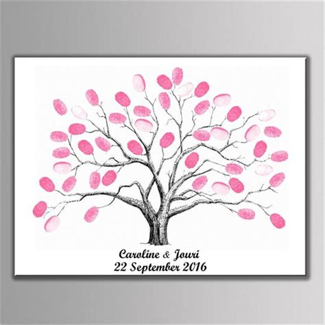Diy Guestbook Fingerprint Tree