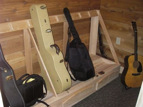 Diy Guitar Case Rack Plans