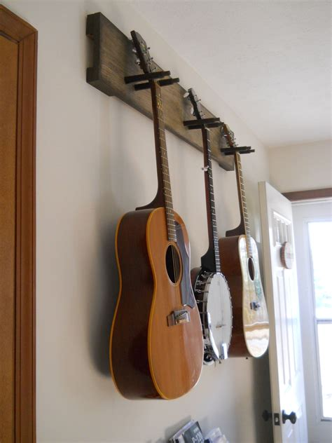 Diy Guitar Hanger Wood