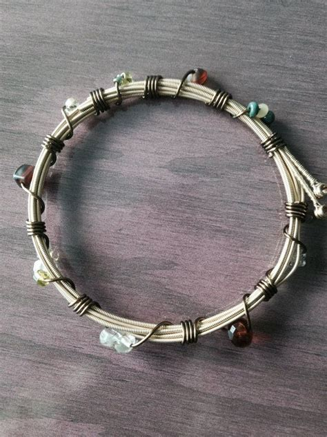 Diy Guitar String Wrapped Bracelet
