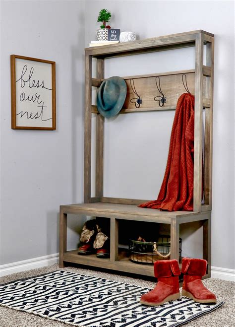Diy Hall Tree Entryway