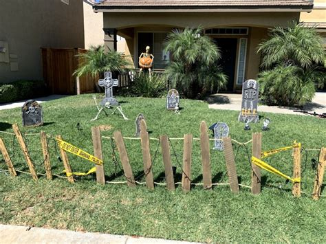 Diy Halloween Fence