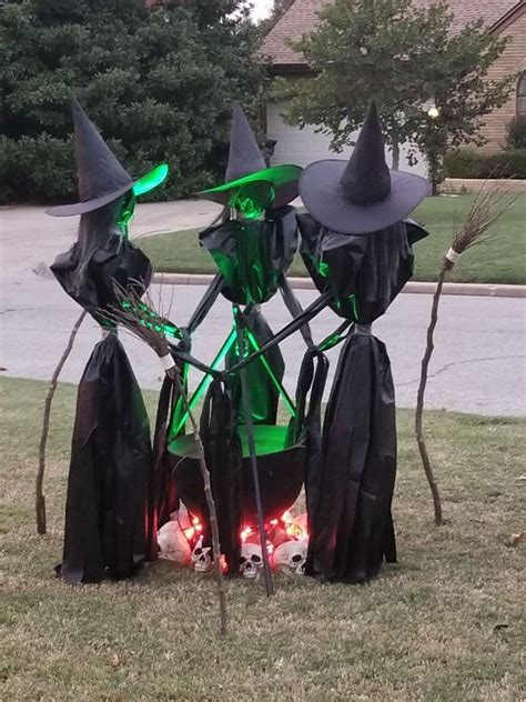 Diy Halloween Yard Witches