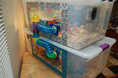 Diy Hamster Cage From Storage Bins