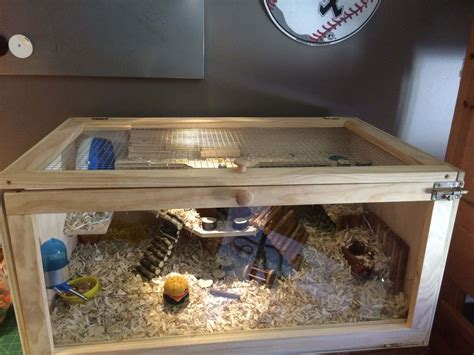 Diy Hamster Cage Out Of Wood