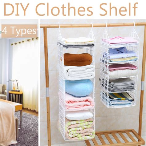 Diy Hanging Closet Shelves