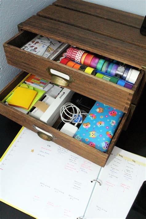 Diy Hanging Desk Drawer Organizer Tray