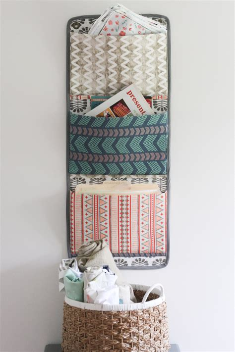 Diy Hanging Fabric Organizer