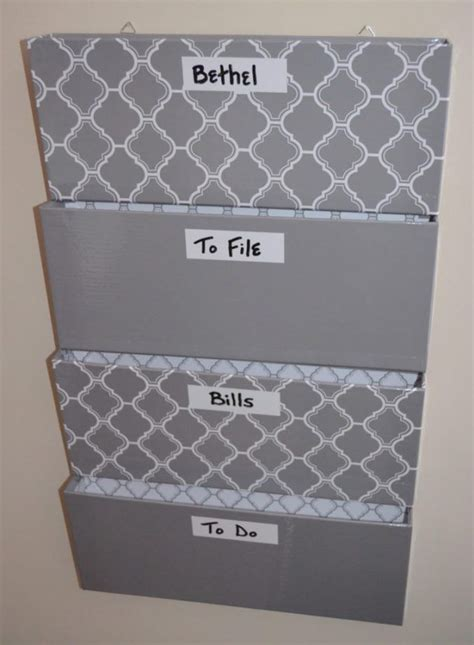 Diy Hanging File Organizer