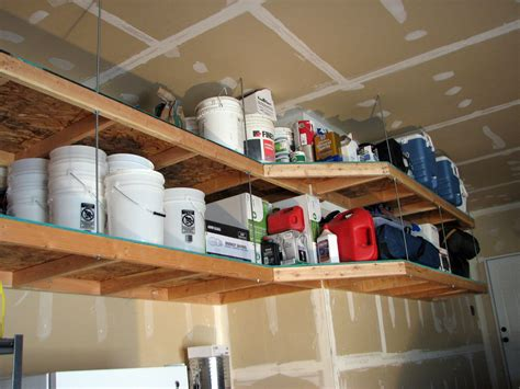 Diy Hanging Garage Shelving Plans