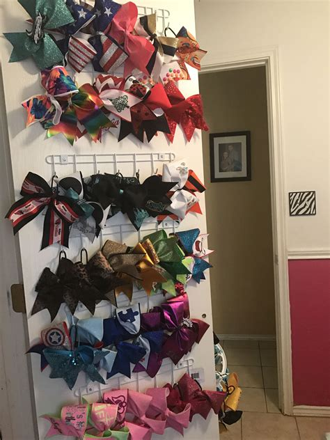 Diy Hanging Organizer For Cheerleader Bows