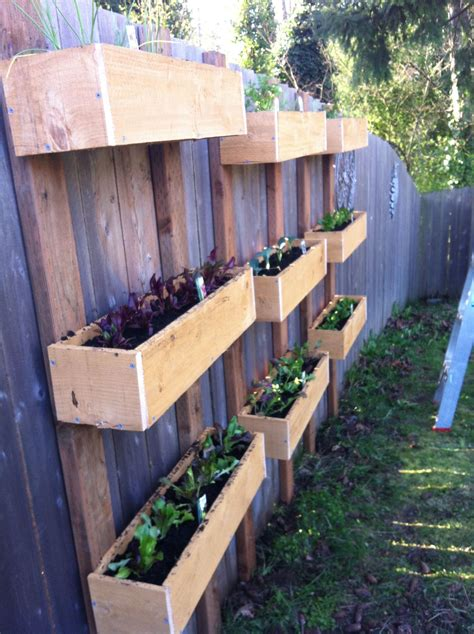 Diy Hanging Planter Boxes On Fence