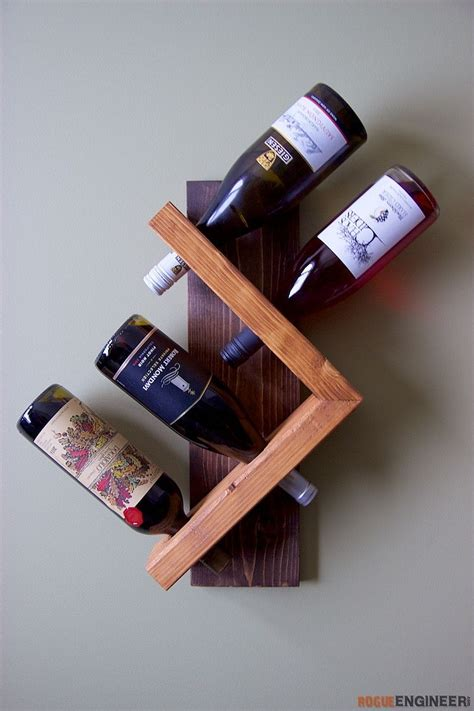Diy Hanging Wine Bottle Rack