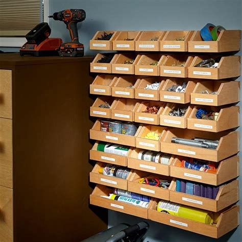 Diy Hardware Storage Bins Plans