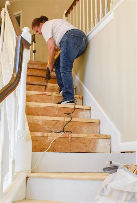 Diy Hardwood Stair Installation