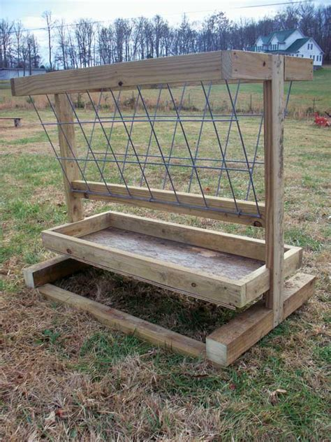 Diy Hay Feeder For Sheep