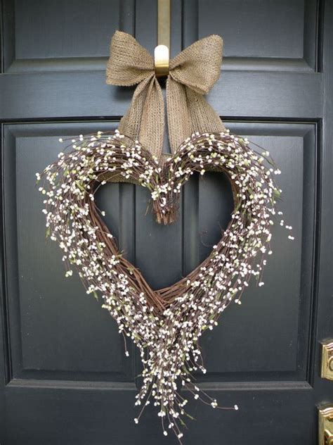 Diy Heart Shaped Wreaths For Doors