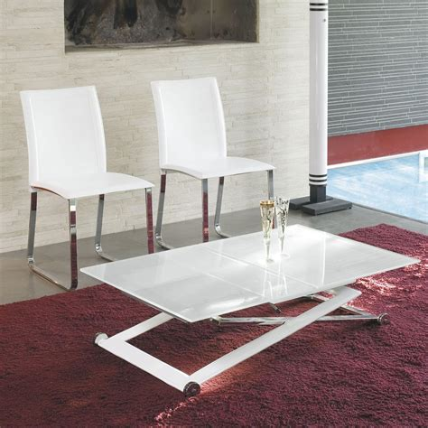 Diy Height Adjustable Coffee Table Expandable Into Dining Table