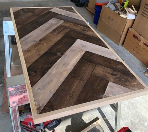 Diy Herringbone Coffee Table Plans