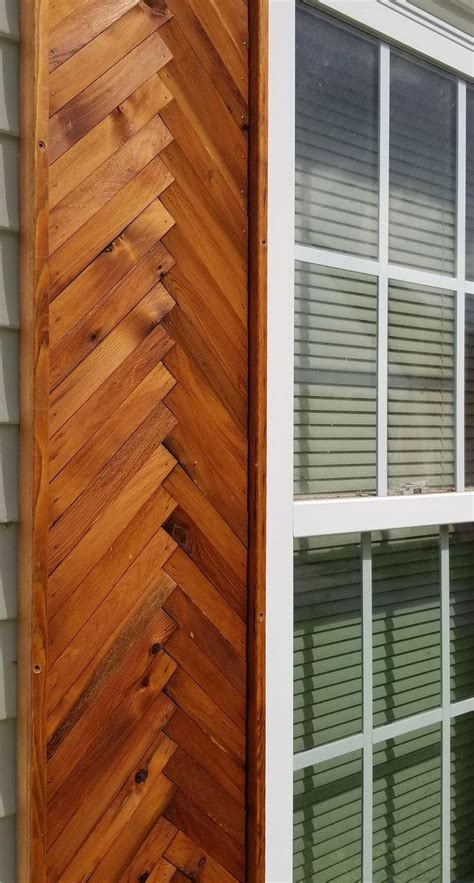 Diy Herringbone Shutters