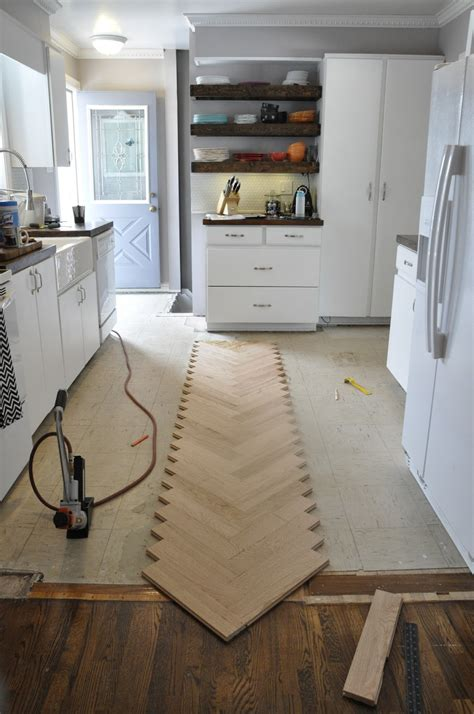 Diy Herringbone Wood Floor