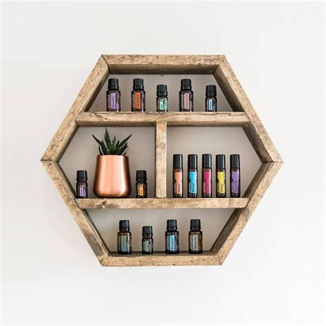 Diy Hexagon Oil Shelf