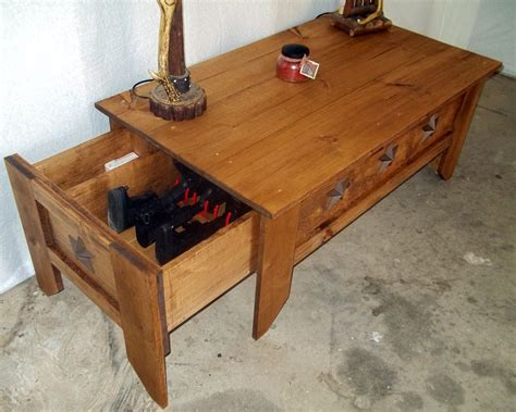 Diy Hidden Compartment Coffee Table