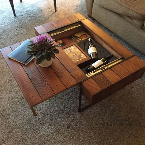Diy Hidden Compartment Table