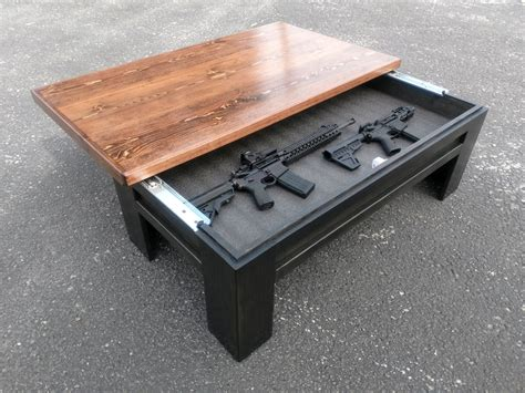 Diy Hidden Gun Coffee Table