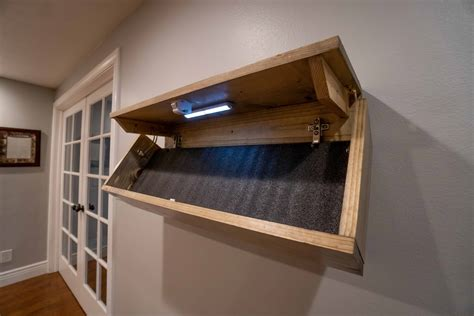 Diy Hidden Gun Shelf Diagram