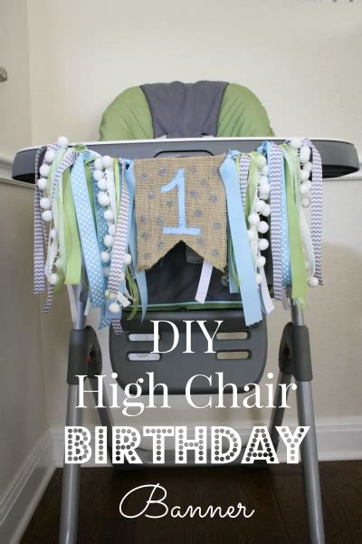Diy High Chair Banner Birthday Boy