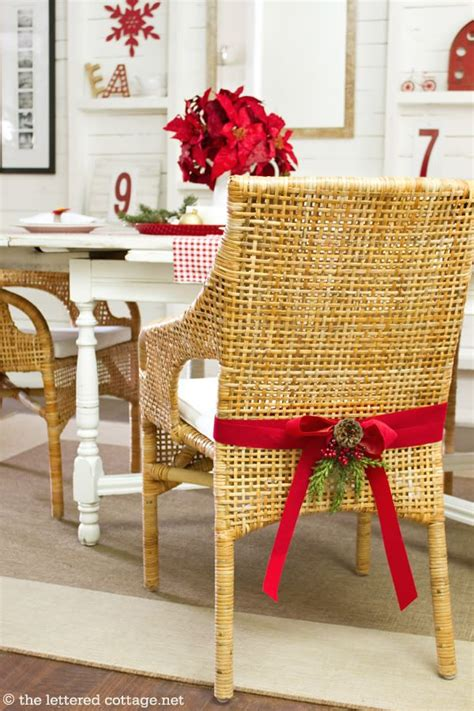 Diy High Chair Christmas Decorations