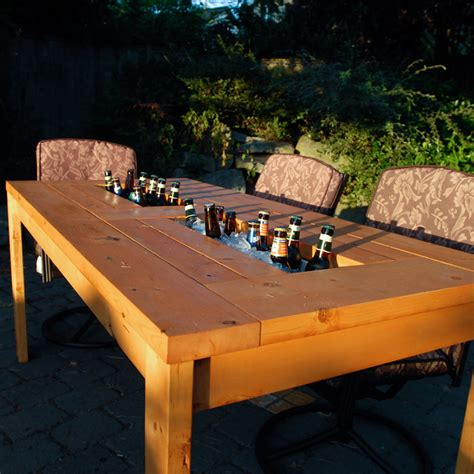 Diy High Top Table With Cooler