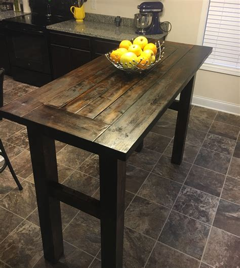 Diy High Top Table With Storage