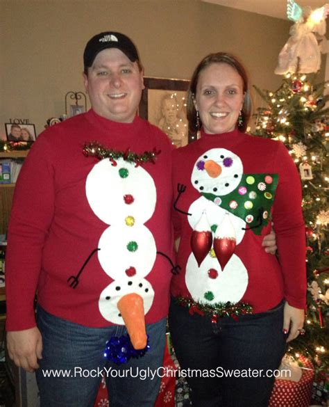 Diy His And Hers Ugly Christmas Sweaters