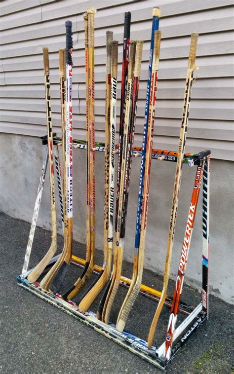 Diy Hockey Stick Rack Holder