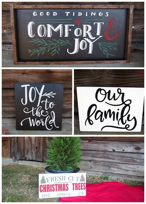 Diy Holiday Wooden Signs