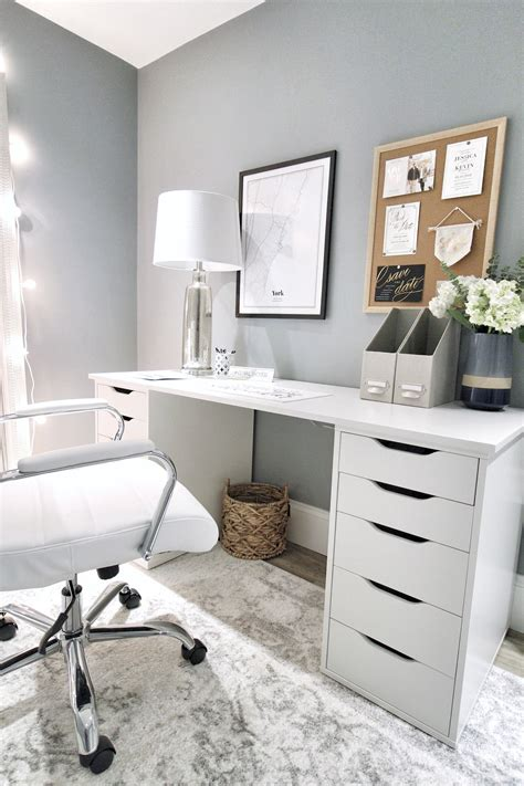 Diy Home Office Desk With Ikea Drawers