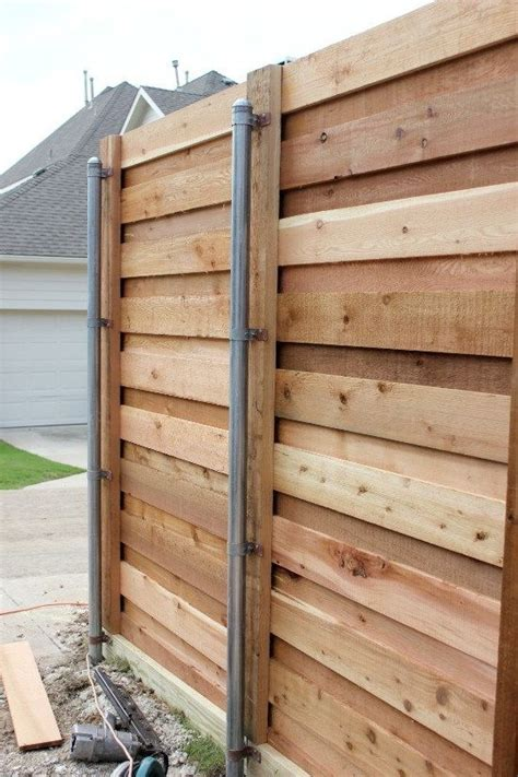Diy Horizontal Fence With Metal Poles