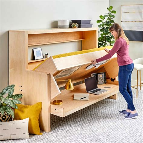 Diy Horizontal Murphy Bed With Desk Plans