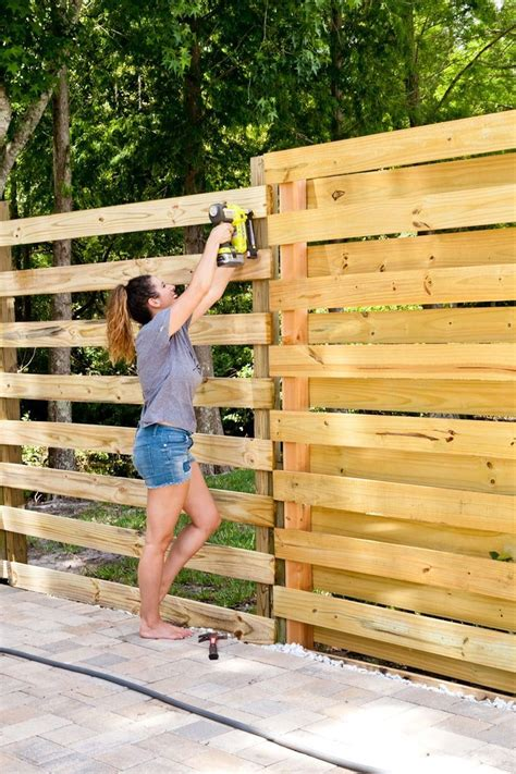 Diy Horizontal Wood Privacy Fence