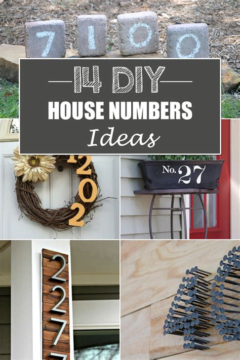 Diy House Number Ideas