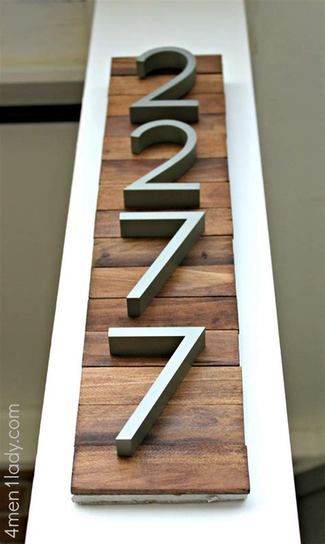 Diy House Number Wood Plaque Design Ideas