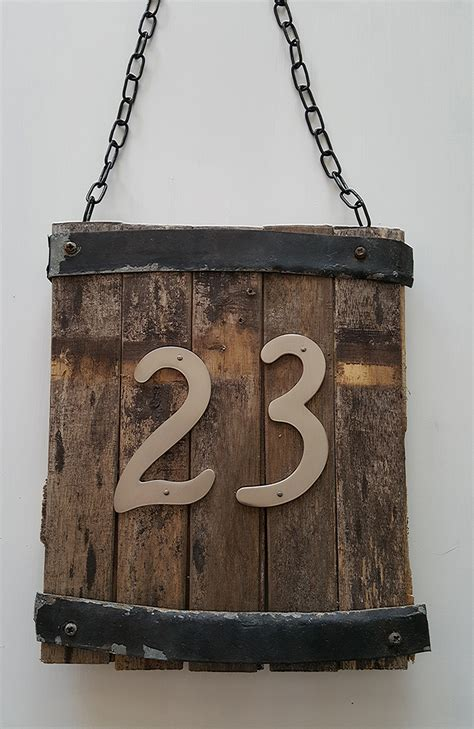 Diy House Number Wood Plaque Design Templates