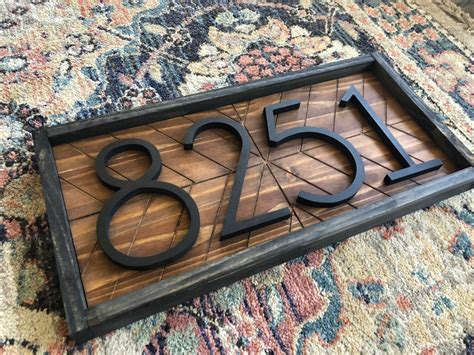 Diy House Number Wood Plaque Designer
